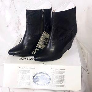 NEW Frye Regina wedge bootie heels